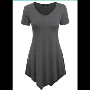 Made By Johnny Tunic Top, grey, size 5xl